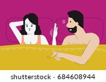 vector illustration of woman... | Shutterstock .eps vector #684608944