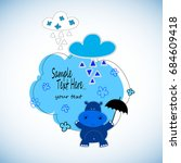 Hippo  Cartoon  Cute  Vector ...