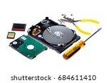 fix  open  opened  hard  disk ... | Shutterstock . vector #684611410