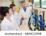 engineer student turning... | Shutterstock . vector #684611548
