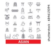 asia  chinese people  indian ... | Shutterstock .eps vector #684615094