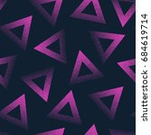 vector abstract stippled... | Shutterstock .eps vector #684619714