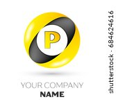 realistic letter p vector logo... | Shutterstock .eps vector #684624616