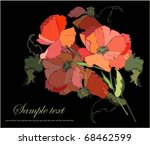 Greeting Card With A Bouquet O...