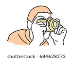 photographer in variety poses....   Shutterstock .eps vector #684628273