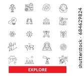 explore  adventure  discover ... | Shutterstock .eps vector #684629824