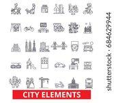 city elements  town  urban ...   Shutterstock .eps vector #684629944