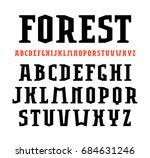 serif font in sport style. bold ... | Shutterstock .eps vector #684631246
