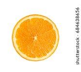 slide circle cut of ripe fresh... | Shutterstock . vector #684638656