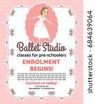 design template on pink dots... | Shutterstock .eps vector #684639064