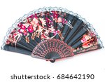 Oriental Chinese Fan Isolated...