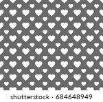 seamless love heart design... | Shutterstock .eps vector #684648949