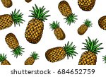 hand drawn colored seamless... | Shutterstock .eps vector #684652759