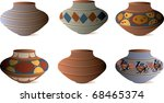 Clay Pottery Collection - stock vector