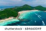 koh larn island  tawaen popular ... | Shutterstock . vector #684660049