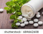 medicine herbal pills with... | Shutterstock . vector #684662608