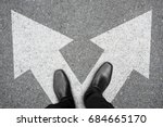businessman in black shoes... | Shutterstock . vector #684665170