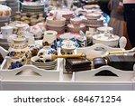 flea market  antiquity market  ... | Shutterstock . vector #684671254