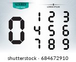 set of numbers technology is a... | Shutterstock .eps vector #684672910