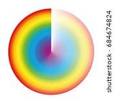 rainbow colored preloader or... | Shutterstock .eps vector #684674824