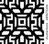 seamless pattern with black... | Shutterstock .eps vector #684675106