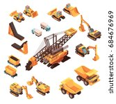 isometric mining set of... | Shutterstock .eps vector #684676969