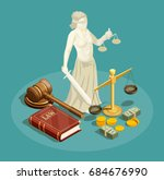 isometric design concept with... | Shutterstock .eps vector #684676990