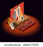 theatre composition of... | Shutterstock .eps vector #684677050