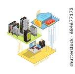 isometric infographics with...