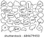 set of different bubbles for...   Shutterstock . vector #684679453