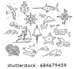 hand drawn simple doodle... | Shutterstock . vector #684679459