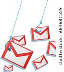 phishing mail concept with an...   Shutterstock . vector #684681529