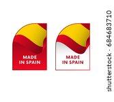 stickers made in spain. vector... | Shutterstock .eps vector #684683710