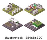 rural and urban factory... | Shutterstock .eps vector #684686320