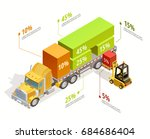 logistic infographic isometric... | Shutterstock .eps vector #684686404