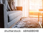 contemporary interior of living ... | Shutterstock . vector #684688048