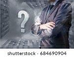 a businessman decides against... | Shutterstock . vector #684690904