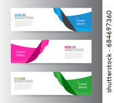 abstract geometric vector web... | Shutterstock .eps vector #684697360