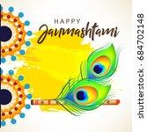 happy janmashtami design...   Shutterstock .eps vector #684702148
