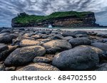 hole in the wall at coffee bay... | Shutterstock . vector #684702550