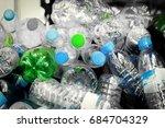 selective focus plastic bottle... | Shutterstock . vector #684704329
