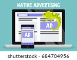 native advertising conceptual... | Shutterstock .eps vector #684704956