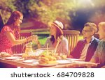 leisure  holidays  eating ... | Shutterstock . vector #684709828