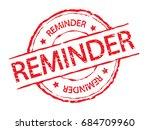 red reminder stamp label sign ... | Shutterstock .eps vector #684709960