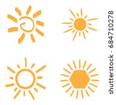 set of sun icons on a white... | Shutterstock .eps vector #684710278