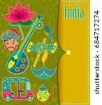 incredible india background...   Shutterstock .eps vector #684717274