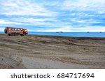 lonely truck on the beach | Shutterstock . vector #684717694