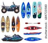 vector beach sport equipment...