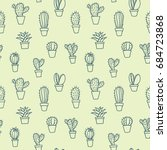 simple drawn seamless vector... | Shutterstock .eps vector #684723868