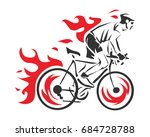 modern cycling action... | Shutterstock .eps vector #684728788